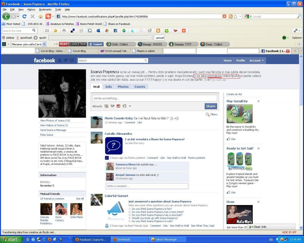 """Premierea"" ClipuluI Ecstasy pe FB Ioana Popescu"